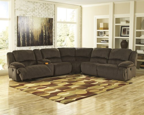 6-Piece Reclining Sectional with LAF Recliner