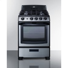 """24"""" Wide Gas Range In Stainless Steel With Oven Window, Sealed Burners, and Continuous Cast Iron Grates; Replaces Pro246ss"""