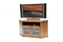 "A-T243 Traditional Alder 55"" Corner TV Console"