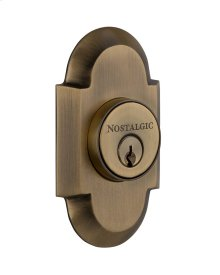 Nostalgic - Double Cylinder Deadbolt Keyed Differently - Cottage in Antique Brass