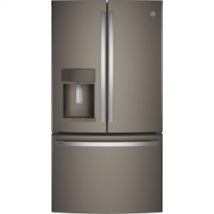 GE Profile™ Series ENERGY STAR® 22.1 Cu. Ft. Counter-Depth French-Door Refrigerator with Hands-Free AutoFill - FINGERPRINT RESISTANT SLATE