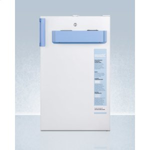 Built-in Undercounter Auto Defrost Medical/scientific All-refrigerator With Front Control Panel Equipped With A Digital Thermostat and Nist Calibrated Thermometer/alarm; Includes Front Lock, Hospital Grade Cord, and Internal Fan -