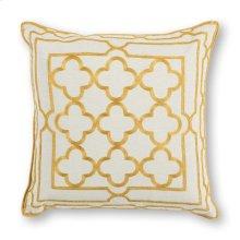 """Pillow L308 Gold Trefoil Frame 18"""" X 18"""""""