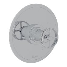 Polished Chrome Campo Pressure Balance Trim Without Diverter with Industrial Metal Wheel