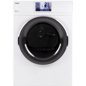 "Haier Appliance4.3 cu.ft. Capacity Smart 24"" Frontload Electric Dryer with Stainless Steel Basket"