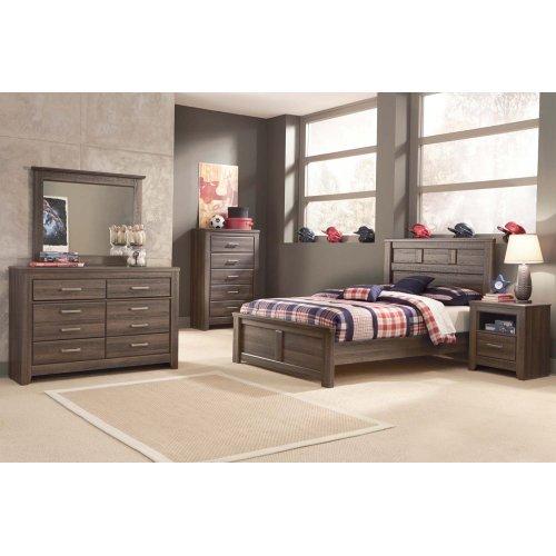 Juararo - Dark Brown 3 Piece Bed Set (Full)