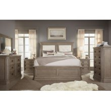 Manor House Upholstered Mansion Bed, Queen 5/0