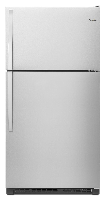 Whirlpool33-Inch Wide Top Freezer Refrigerator - 20 Cu. Ft. Fingerprint Resistant Stainless Steel