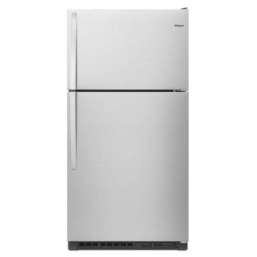 33-inch Wide Top Freezer Refrigerator - 20 cu. ft. Fingerprint Resistant Stainless Steel