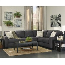 Signature Design by Ashley Alenya 3-Piece Right Side Facing Sofa Sectional in Charcoal Microfiber