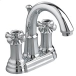 American StandardPortsmouth 2-Handle 4 Inch Centerset High-Arc Bathroom Faucet with Cross Handles - Polished Chrome