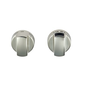 WolfInduction Range Stainless Steel Knobs