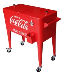 80QT RETRO COCA-COLA COOLER (ICE COLD) - RED
