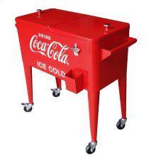 80QT RETRO COCA-COLA COOLER (ICE COLD) - RED