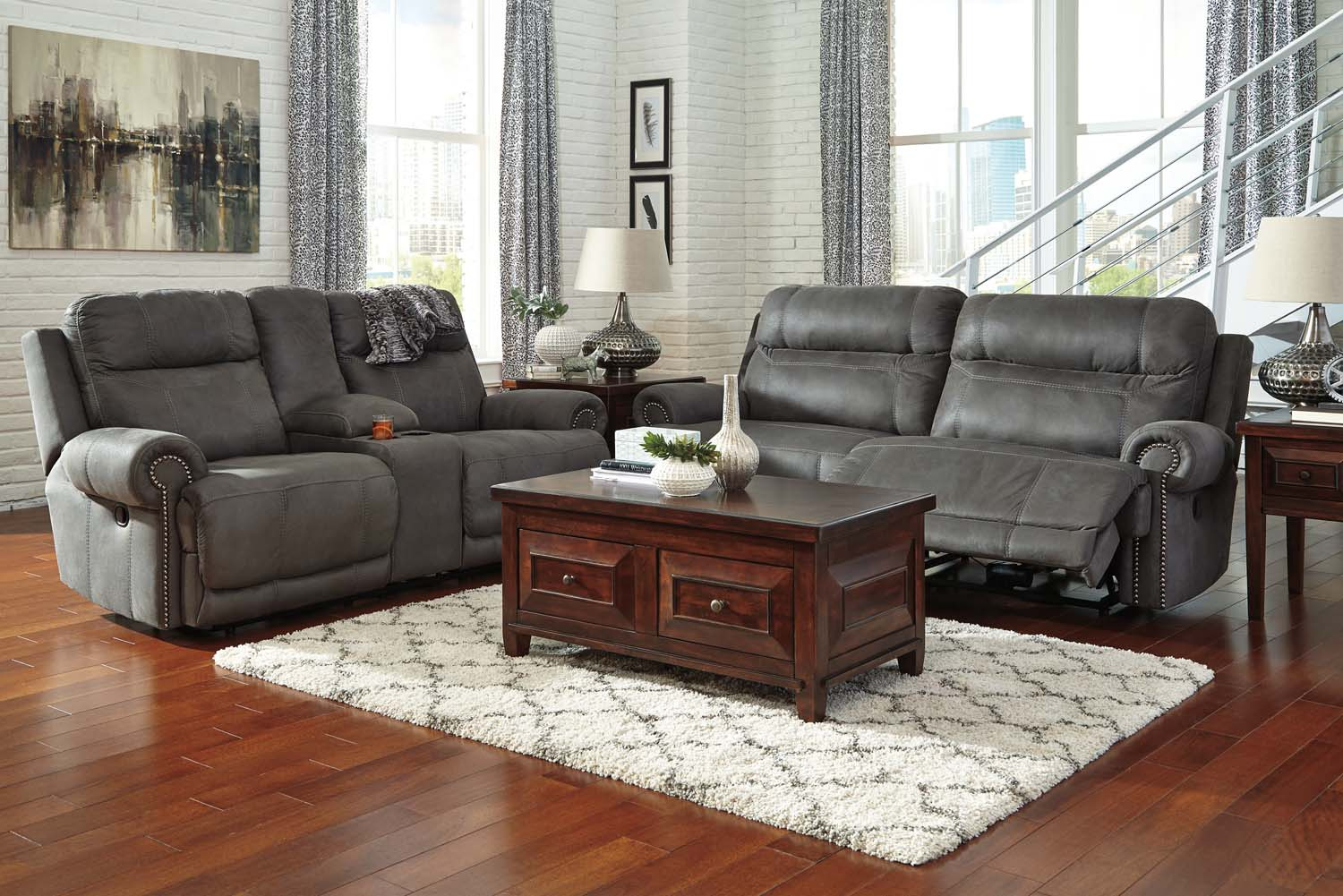 Hidden · Additional Ashley 38401 Austere   Gray Living Room Set Houston  Texas USA Aztec Furniture