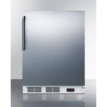 Built-in Undercounter ADA All-freezer Capable of -25 C Operation, With Wrapped Stainless Steel Door and Towel Bar Handle