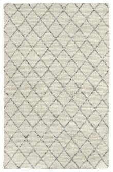 Diamond Looped Wool Ivory 2x3