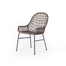 Distressed Grey Finish Bandera Outdoor Woven Dining Chair