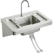 "Elkay Stainless Steel 28"" x 20"" x 7-1/2"", Wall Hung Lavatory Sink Kit"