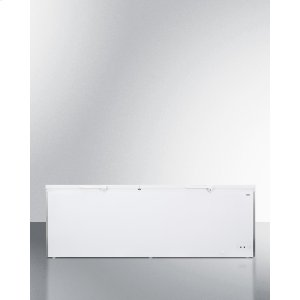 SummitCommercially Listed 26.66 CU.FT. Manual Defrost Chest Freezer In White With Stainless Steel Corner Guards