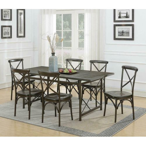 Hawthorne Industrial Chic Coffee Side Chair