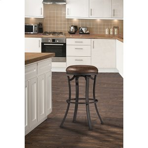Hillsdale FurnitureKelford Backless Swivel Bar Stool - Textured Black