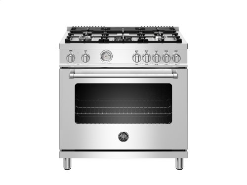 36 inch Dual Fuel Range, 5 Burner, Electric Oven Stainless