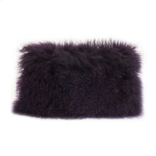 Lamb Fur Pillow Rect. Purple