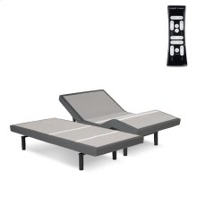 S-Cape 2.0+ Adjustable Bed Base with (2) 4-Port USB Hub's and Full Body Massage, Charcoal Gray Finish, Split California King