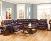 Kennard - Burgundy 3 Piece Sectional
