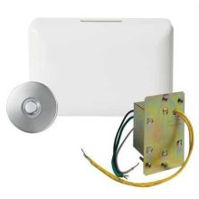 Builder Doorbell Kit with Junction Box Transformer and Lighted Satin Nickel Pushbutton