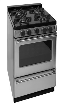 20 in. ProSeries Freestanding Battery Spark Sealed Burner Gas Range in Stainless Steel