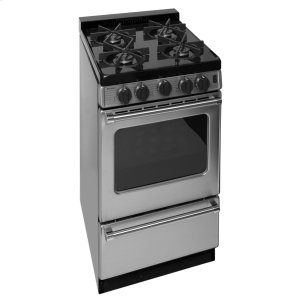 Premier20 in. ProSeries Freestanding Battery Spark Sealed Burner Gas Range in Stainless Steel