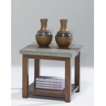 Square Lamp Table - Nutmeg and Cement Finish