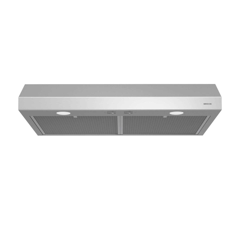 BroanGlacier 36-Inch 250 Cfm Stainless Steel Range Hood With Light