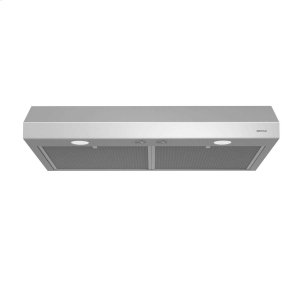 Glacier 24-Inch 250 CFM Stainless Steel Range Hood with light - STAINLESS STEEL