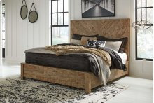Grindleburg - Light Brown 2 Piece Bed Set (Cal King)