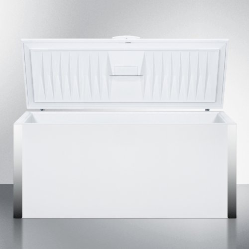 Commercially Listed 24.8 CU.FT. Manual Defrost Chest Freezer With Stainless Steel Corner Guards