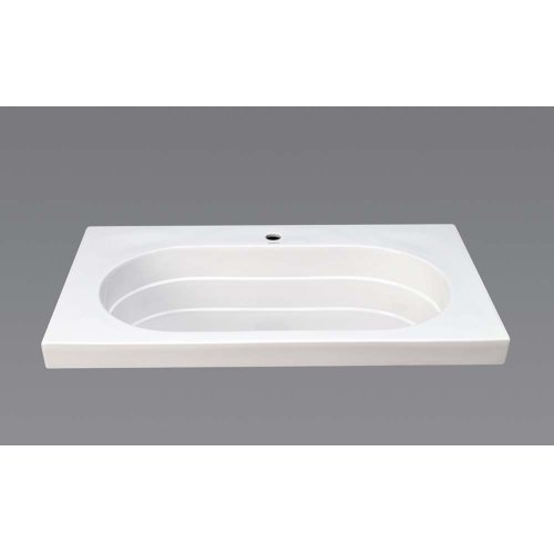 """Ashland™ 37"""" Ceramic Utility Sinktop with Single Faucet Hole in White"""