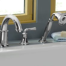 Portsmouth Deck-Mounted Bathtub Faucet with Lever Handles - Polished Chrome