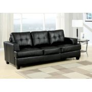 BLACK BND L. SOFA W/Q. SLEEPER Product Image