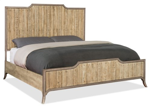Bedroom Urban Elevation California King Wood Panel Bed