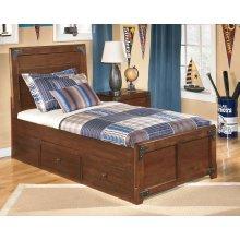 Delburne - Medium Brown 3 Piece Bed Set (Twin)