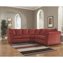 Signature Design by Ashley Darcy Sectional in Salsa Microfiber