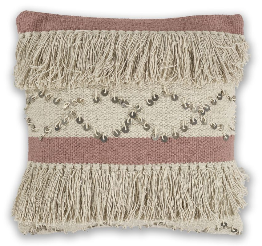 "Pillow L336 Ivory/blush Treasure 18"" X 18"""