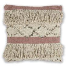 """Pillow L336 Ivory/blush Treasure 18"""" X 18"""""""