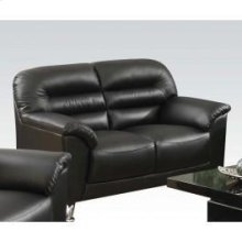Black Pu Loveseat