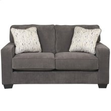 Signature Design by Ashley Hodan Loveseat in Marble Microfiber