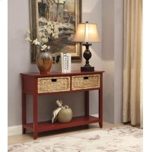 BURGENDY CONSOLE TABLE