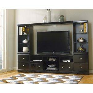 Ashley Furniture Shay - Black 4 Piece Entertainment Set